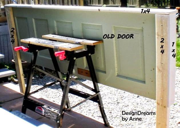 Vintage Door Headboard & DesignDreams by Anne: Vintage Door Headboard