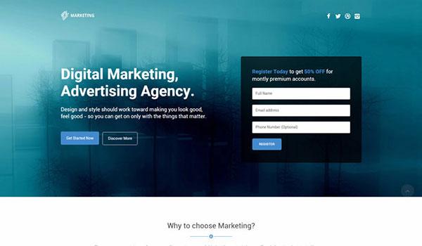 Marketing-WordPress-theme-based-On-Bootstrap