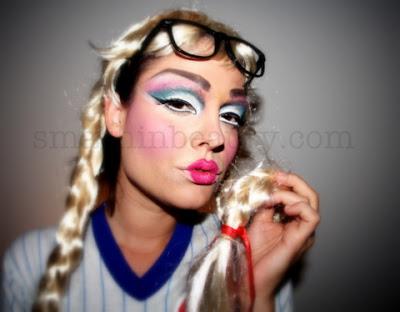 Barbie+Doll+Halloween+Makeup+Tutorial+