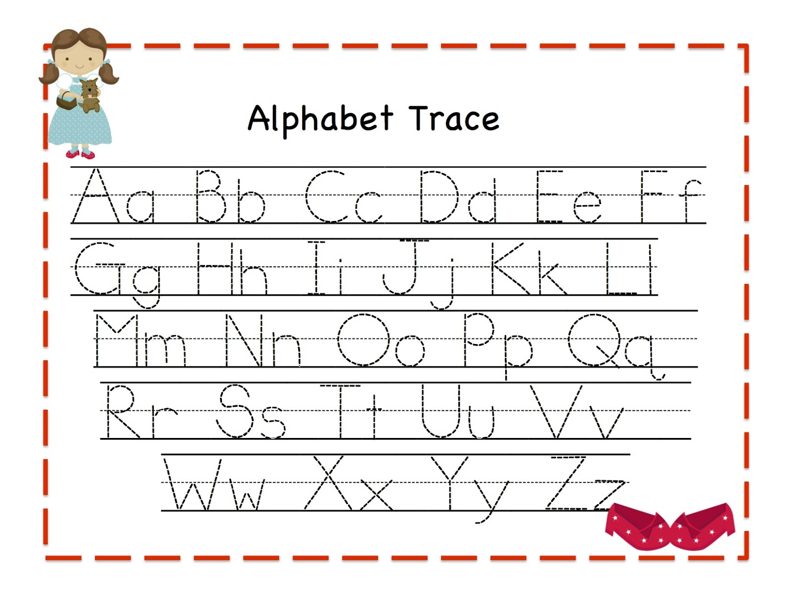 Worksheet Printable Tracing Letters Wosenly Free Worksheet – Tracing Letter a Worksheet
