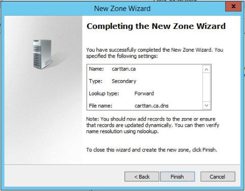 Figure 7: Step 7 of migrating a Linux BIND name server to a Windows Server DNS server.