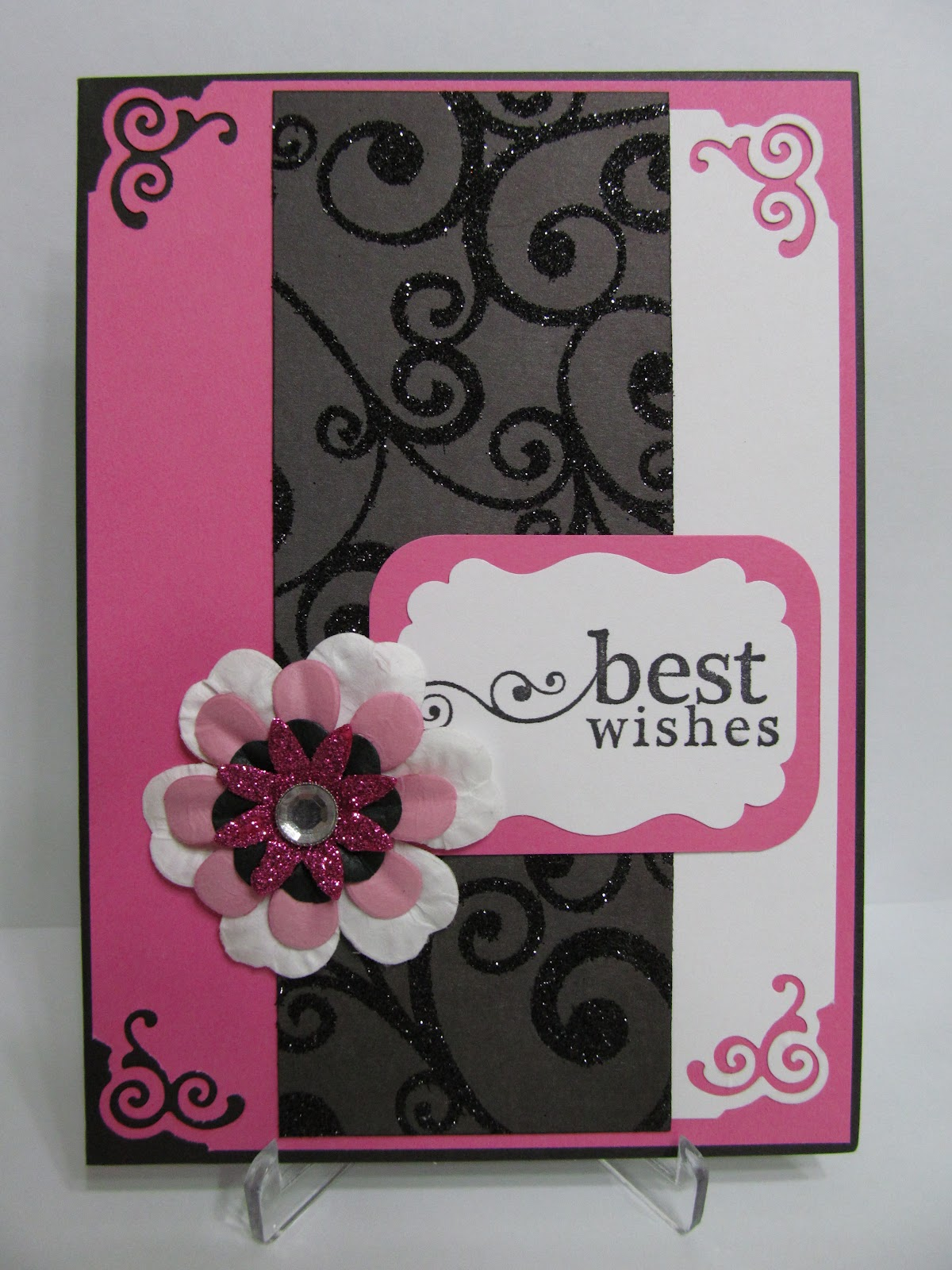 Savvy Handmade Cards Best Wishes Card