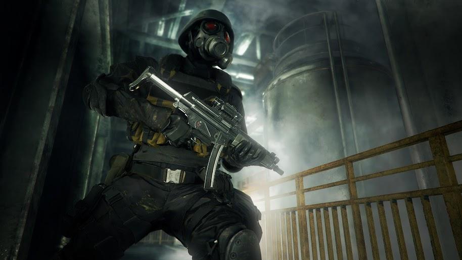 Hunk Resident Evil 2 Gas Mask Rifle 4k Wallpaper 16