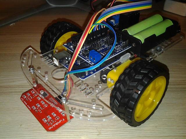 โปรเจค หุ่นยนต์เดินตามเส้น 2WD 3 เซ็นเซอร์ CTRT5000