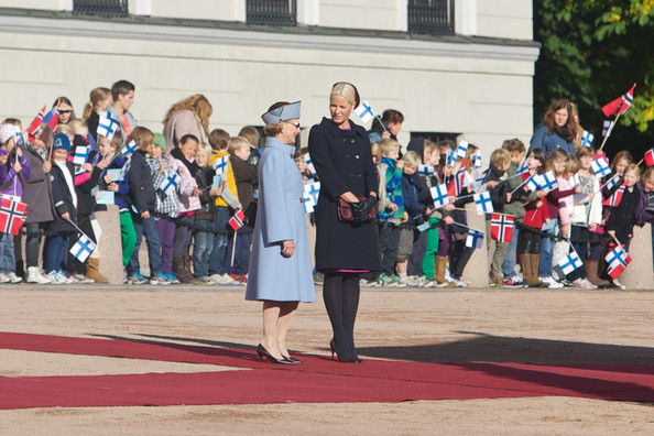 Queen Sonja, Crown Prince Haakon, Crown Princess Mette-Marit, President Sauli Niinistö and Mrs. Jenni Haukio