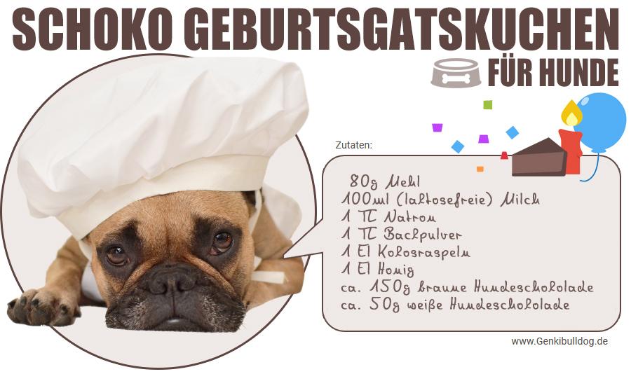 Rezept Schokoladen-Geburtstagskuchen für Hunde Hundekuchen Hundetorte selbst backen