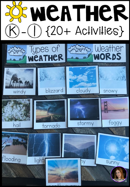 Hands-on factual weather activities for kindergarten and first grade.