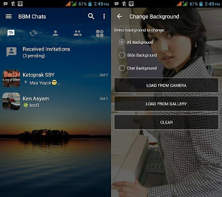 BBM MOD Transparan Change Background v3.2.0.6 Apk Versi Terbaru