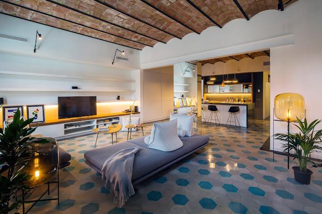 Дизайн-проекты. Реконструкция квартиры в Барселоне