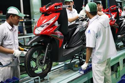Pembuatan sepeda motor Honda di Indonesia