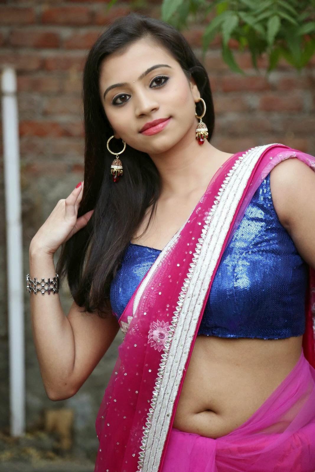 Actress Priyanka Deep Navel Show Pics In Saree Hot ...