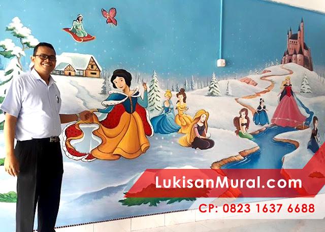 Lukisan Dinding Kamar Princess