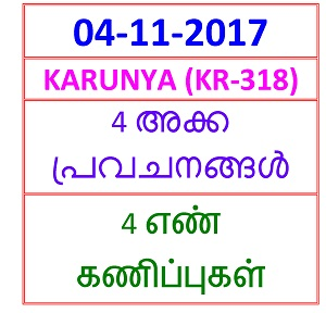 03 NOV 2017 Niraml (NR-42) 4 NOS PREDICTIONS