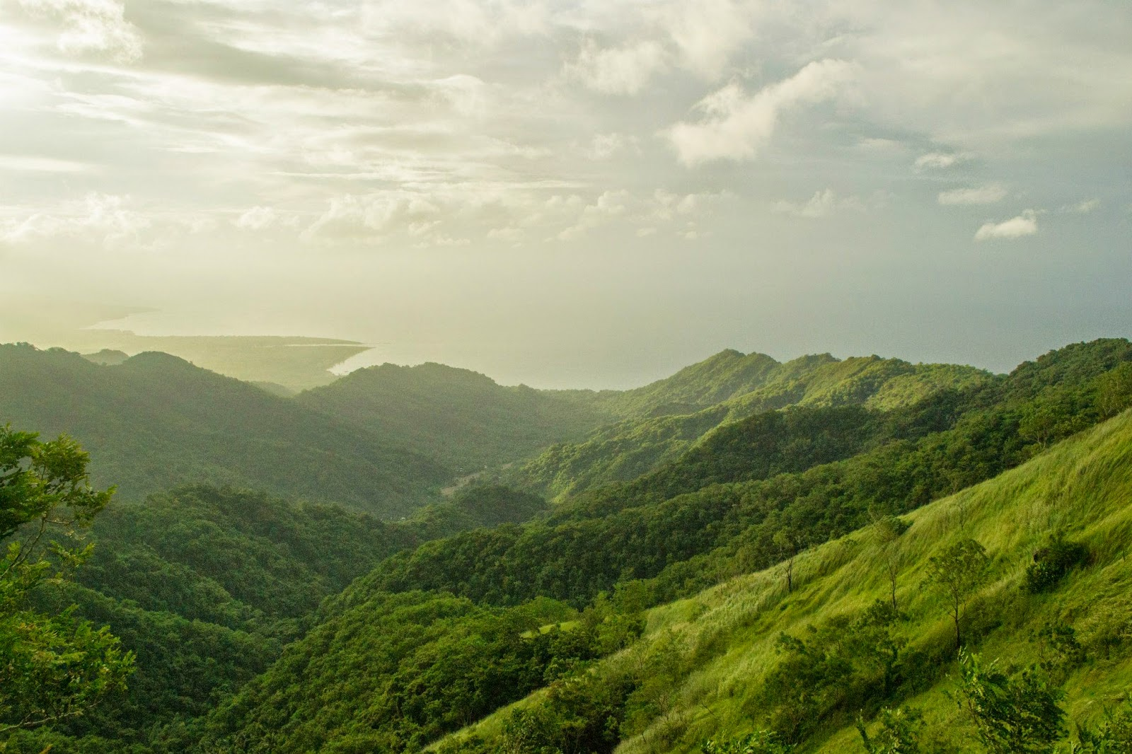 Mt. Tibig - View at the Cliff near the Summit - Overlooking Lobo Beach