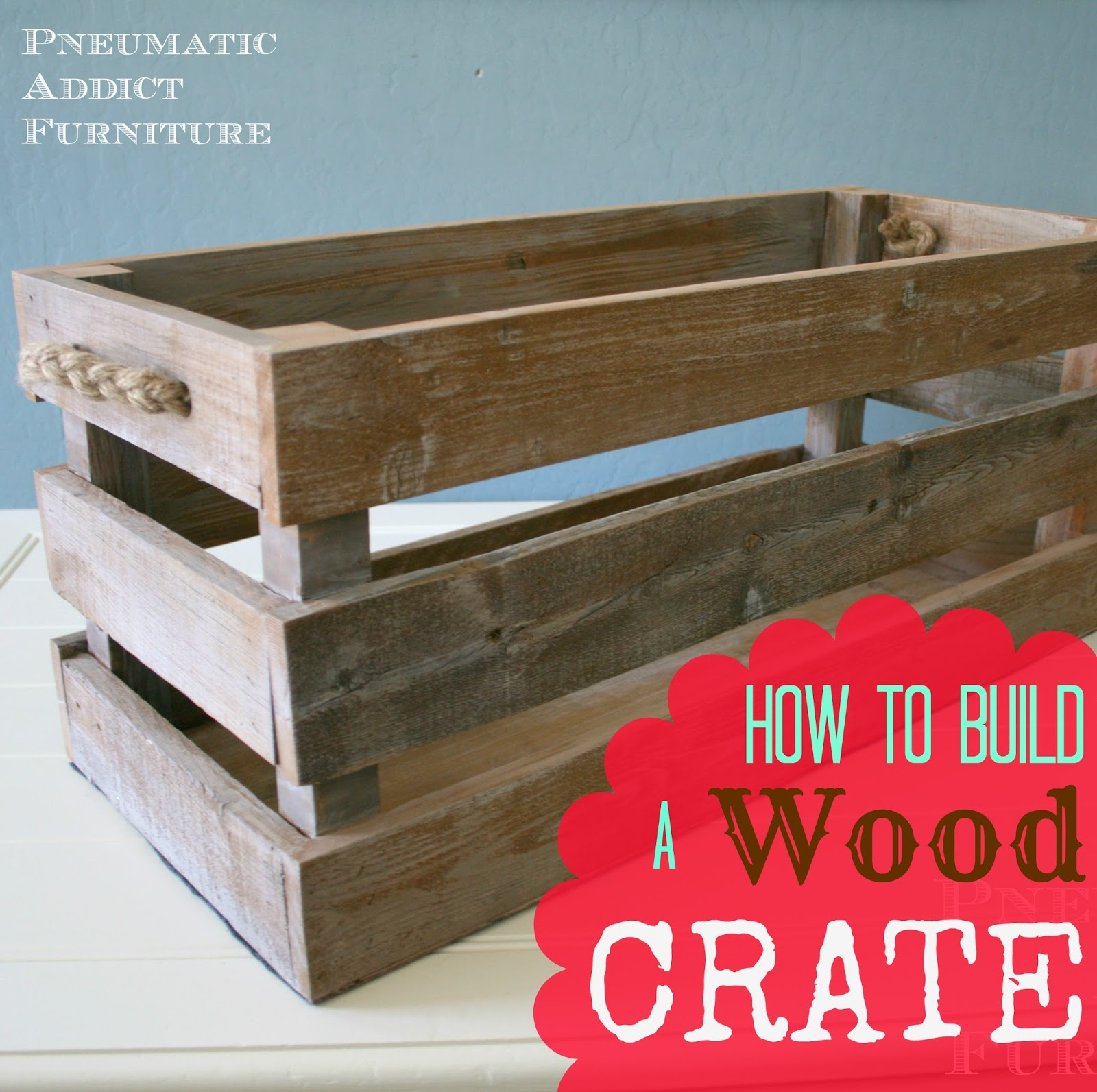 how to build a wood crate pneumatic