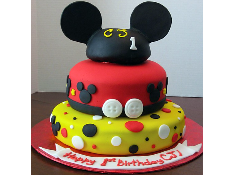 Top 16 Custom Mickey Mouse Birthday Cakes | Cakes Gallery