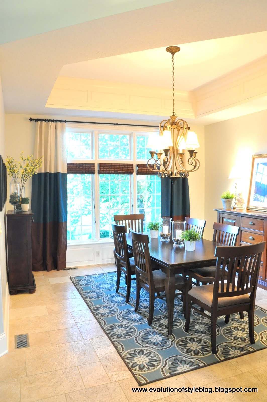 Our paint colors evolution of style for Dining room ideas teal