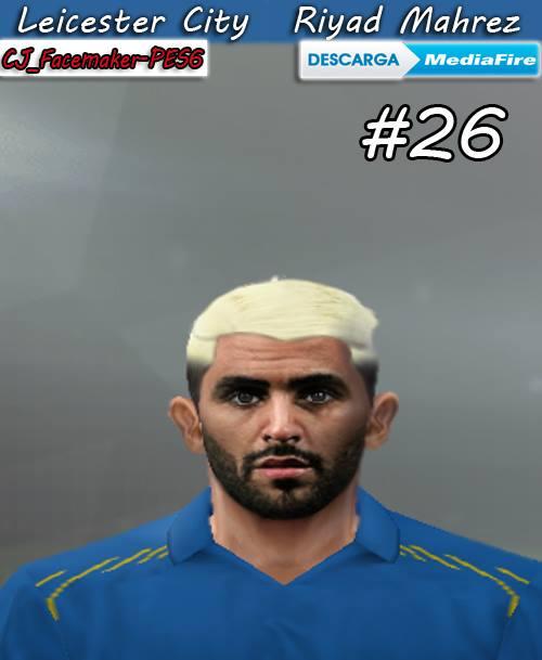 PES 6 Riyad Mahrez (Leicester City) New Blonde Hair 2018 042d77e34