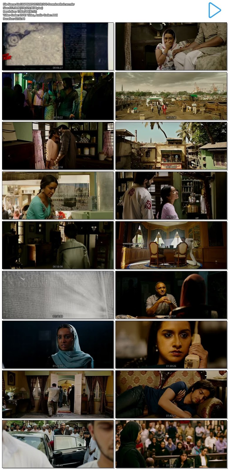 Haseena Parkar 2017 Hindi 720p HEVC DVDRip