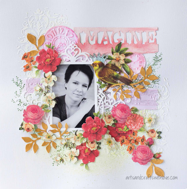 Layout for 123 Get Scrappy January '15: Imagine