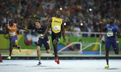 Usain Bolt, Rio 2016, nyári olimpiai játékok, atlétika, Andre de Grasse, Christophe Lemaitre,