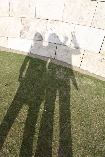 """Peace"" Left:  Alex, Right: LeAnn on my birthday at the Getty Museum (image by LeAnn for linen & lavender)"