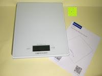 Lieferumfang: DBPOWER® Digitale Küchenwaage, Multifunktionsküche-Nahrungsmittelskala Messen, 11 £ / 5kg High Precision Berührungsbildschirm, Hartglas, Weiß