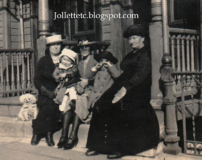 Sheehan women, Cutey, John Jr. and Bob 1921 New York City https://jollettetc.blogspot.com
