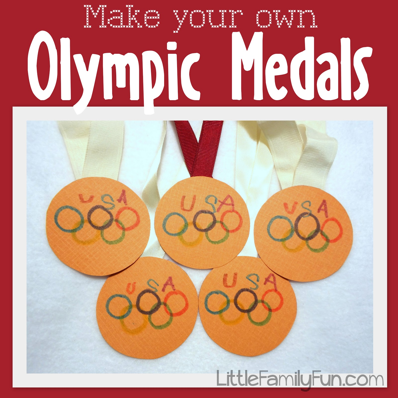 Little Family Fun Family Olympics Medals