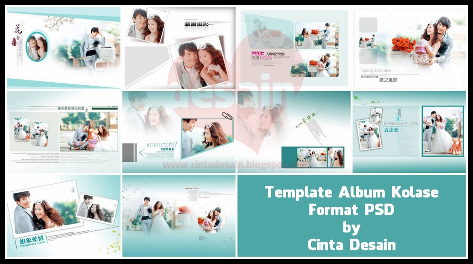 Template Album Kolase Format Psd Volume Cinta Desain ...
