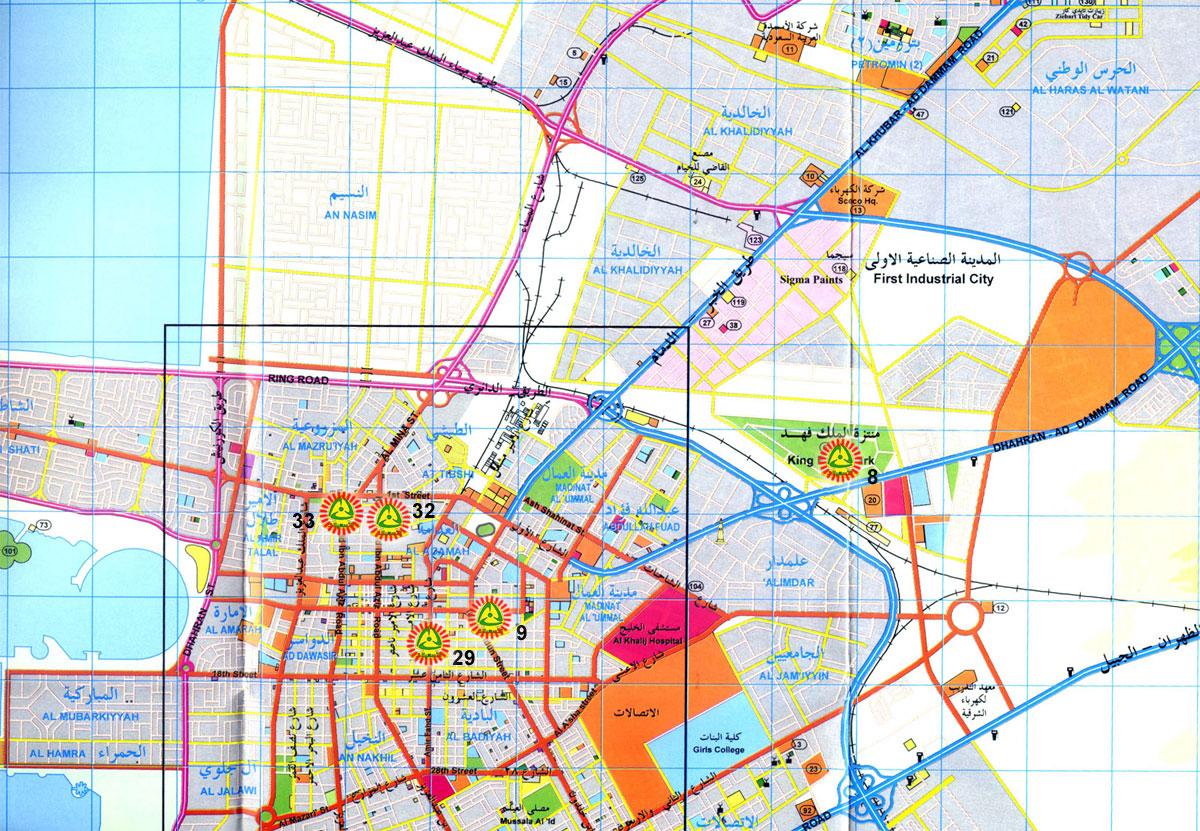 خريطة الدمام الجديدة