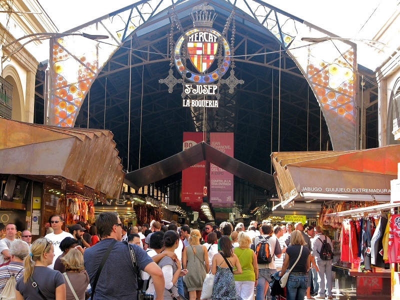 10 mercados imperd veis em barcelona dicas de barcelona - Calle boqueria barcelona ...