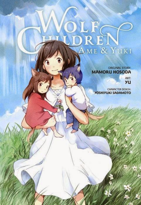 Okładka mangi Wolf Children: Ame & Yuki