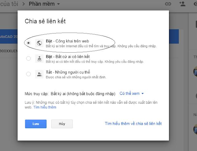 chia se file tren google driver