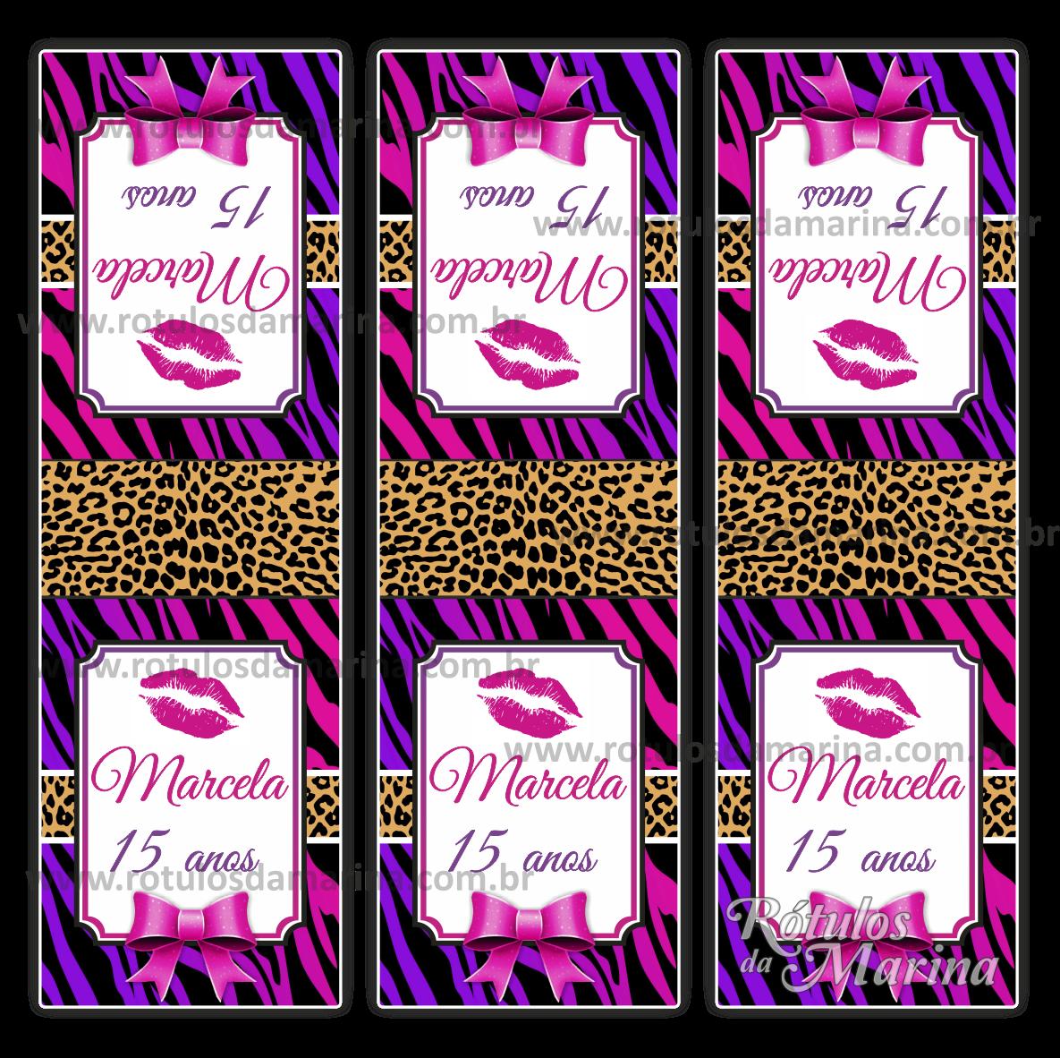 Armario Hemnes Segunda Mano ~ Marina Rótulos Fashion Zebra com Oncinha Rosa e Lilás