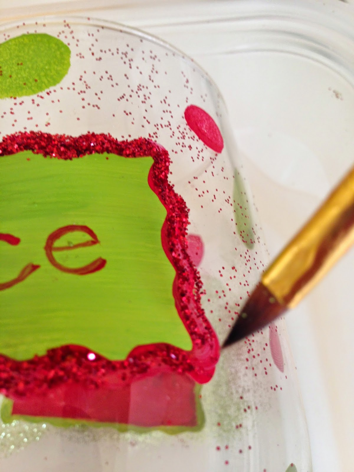 Adding Glitter on Hand Painted Wine Glass