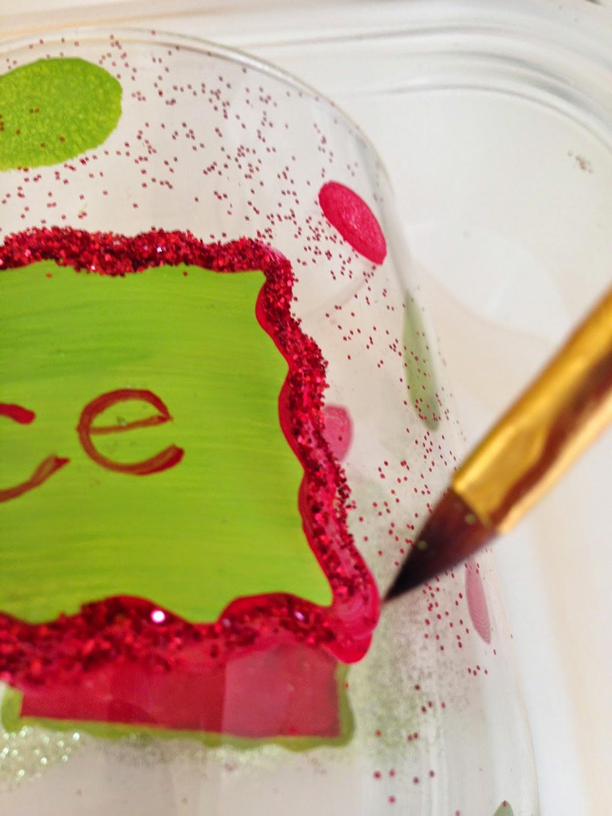 Adding Glitter on Hand Painted Wine Glass