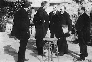 Members of the German and Russian delegations meet at the Rapallo negotiations