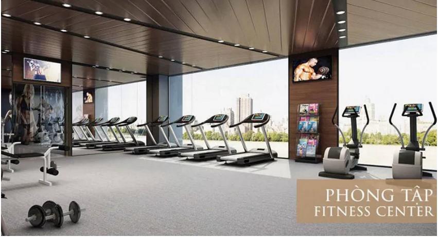 phòng tập gym trong dự án roman hải phát plaza