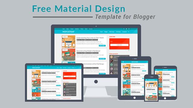 mdfostrap material design blogger template