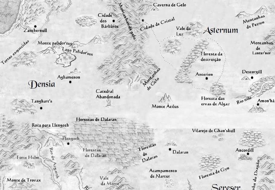 Alchemia RPG: Mapa Completo! ~ Taverna do Elfo e do Arcanios