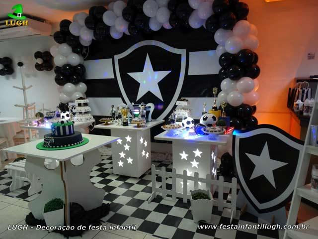 Festa Botafogo - Decoração mesa para o bolo de aniversário