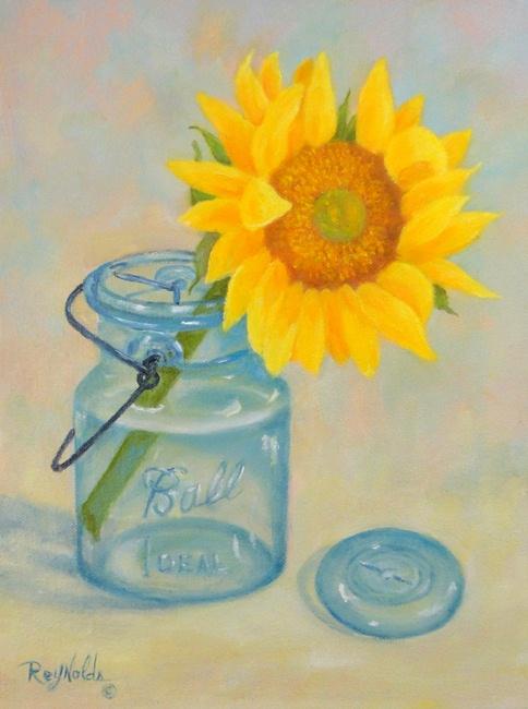 Reynolds Renditions Sunflower In Ball Jar