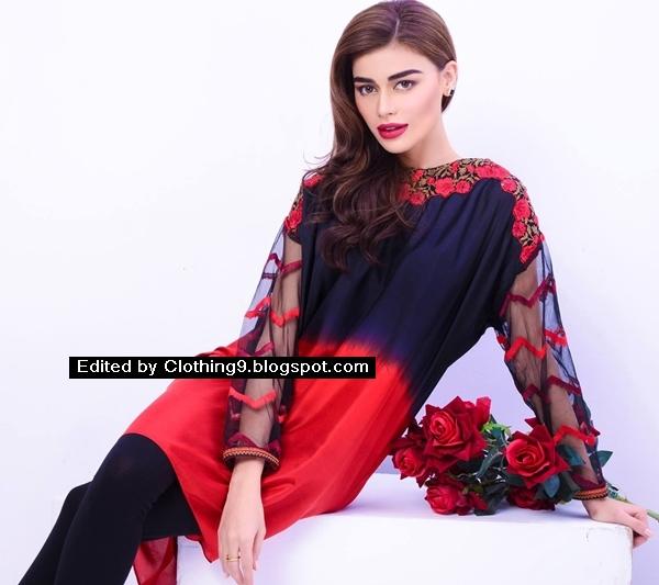 Mahwish & Farishtay Valentines Silk Tunics 2016