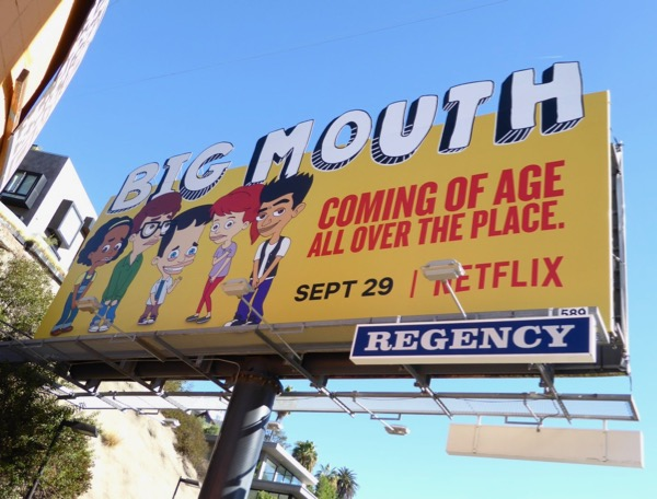 Big Mouth season 1 extension cut-out billboard