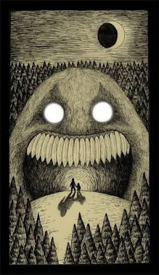 Two people in the woulds forest with no way out surrounded by monsters