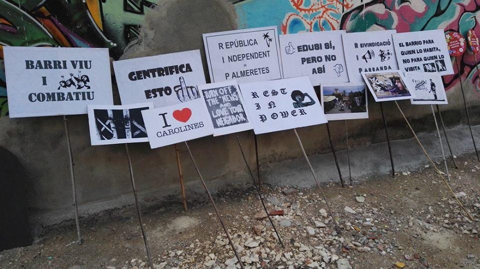 Pancartas reivindicativas