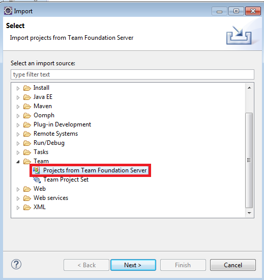 Infallible Techie: How to import project from Microsoft TFS
