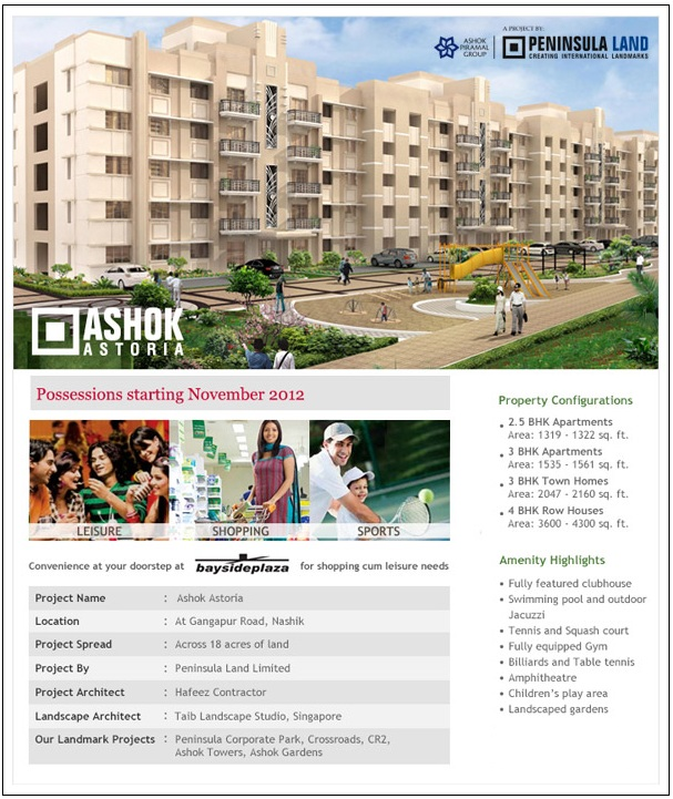 Nashik Properties: Ashok Astoria - 2 5, 3 BHK Apartments, Town Homes