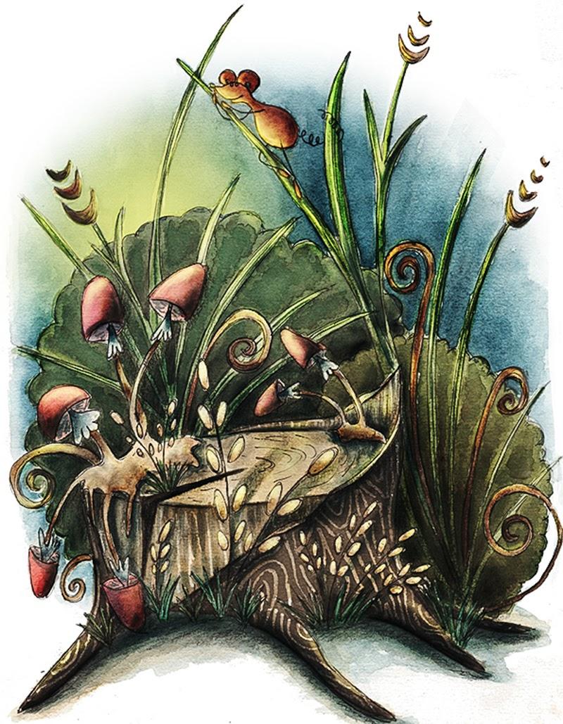 Illustrations by Aleksandra Szmidt from Poland living in New Zealand.